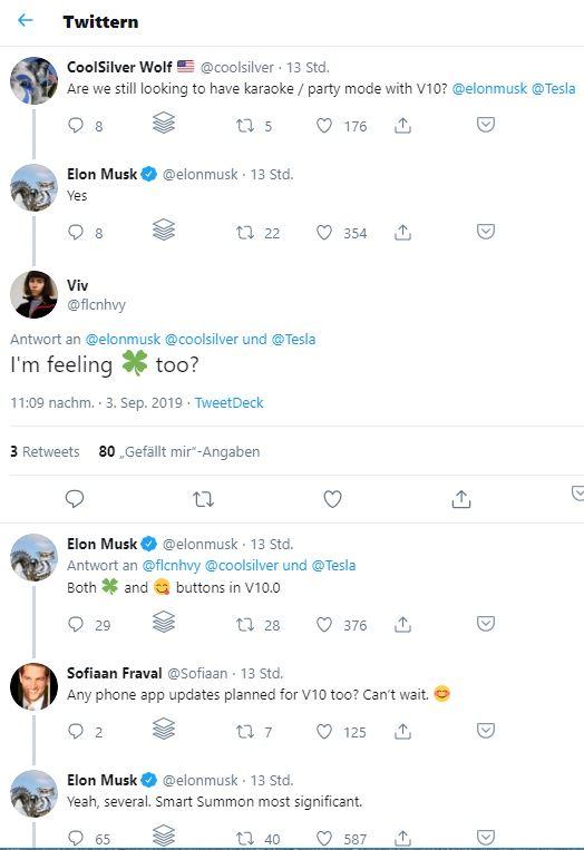 tweets zu v10 von elon musk