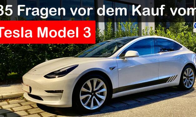 35 Fragen vor dem Kauf des Tesla Model 3