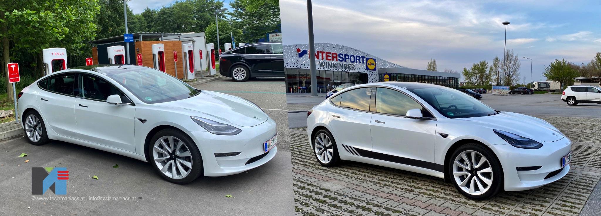 Chromedelete Tesla Model 3 Vorher Nachher